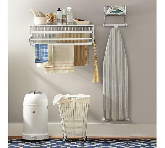 Wallmount Drying Rack Laundry Room Storage Shelves Small