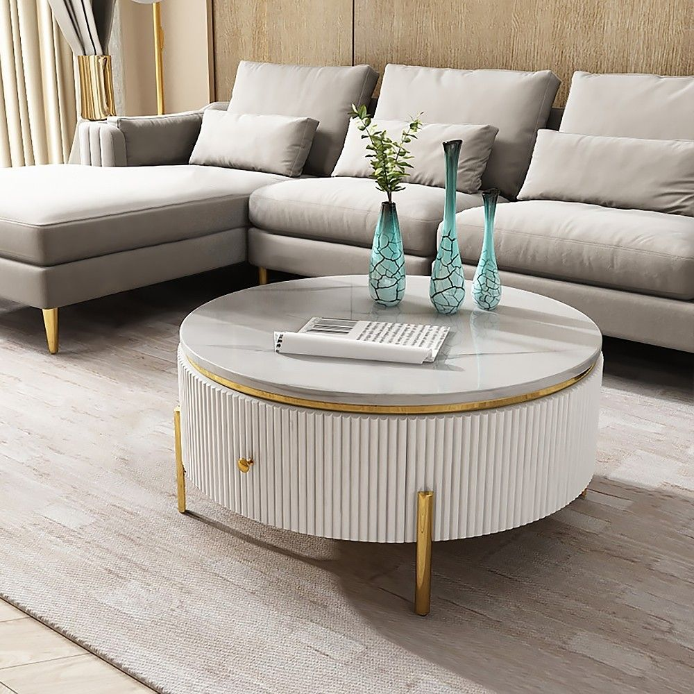 Industrial Coffee Table Round Cement Coffee Table In Light Gray In 2021 Industrial Coffee Table Drum Coffee Table Round Black Coffee Table [ 1000 x 1000 Pixel ]