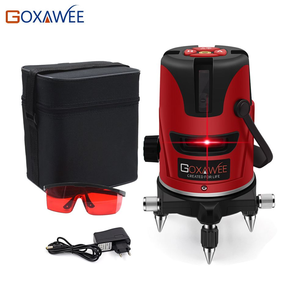 Laser Level 2 Red Cross Line 1 Point Ak435 Horizonatal Vertival 360 Rotary Self Leveling Nivel Laser Diagnostic Tools Laser Levels Construction Tools Rotary