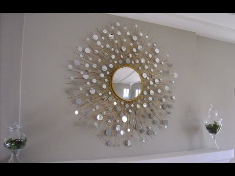DIY Wall hanging mirror decoration Room Decor Art with