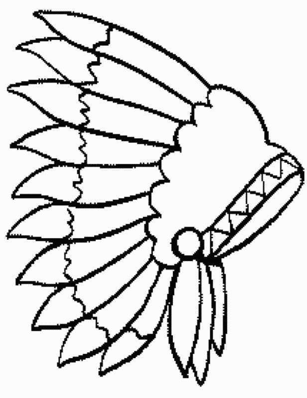 Native North American Indians printable coloring pages Color