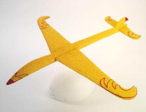 styrofoam glider plane pattern | Craft Ideas | Gliders