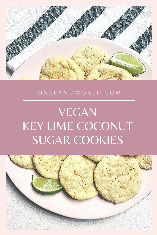 Vegan Key Lime Coconut Sugar Cookies