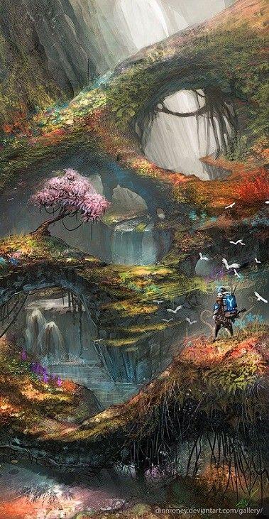 Arc Moderne The Forest : moderne, forest, Paysage, Fantasy, Fantastique,, Imaginaire,, Illustration, D'imaginaire