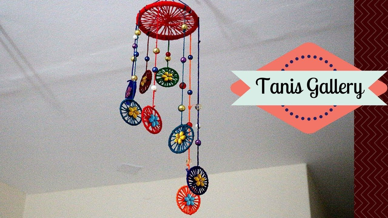 Wind Chimes With Bangles And Woolen