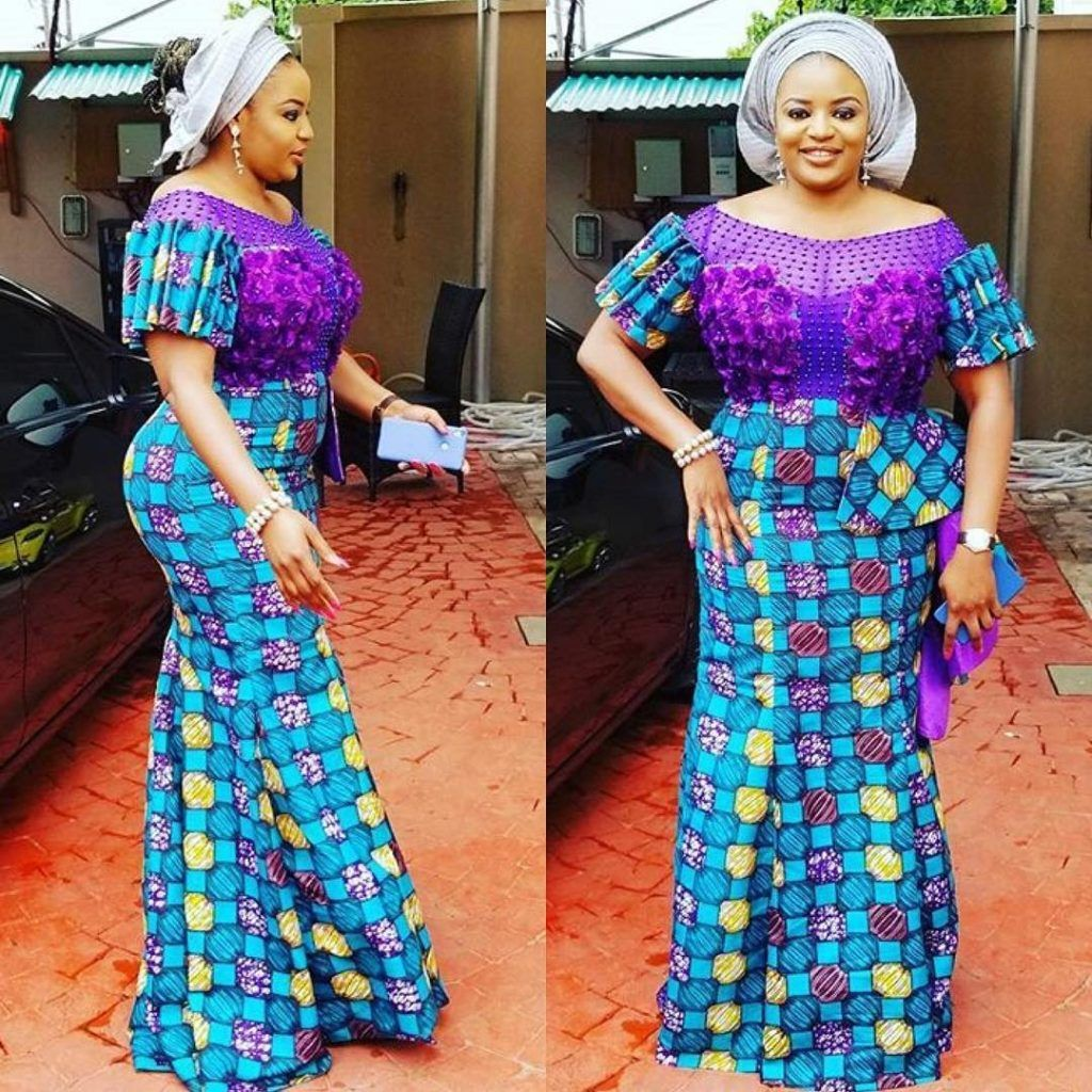 New Ankara Styles Siks Nd Tops: Latest Ankara Dresses In Nigeria 8