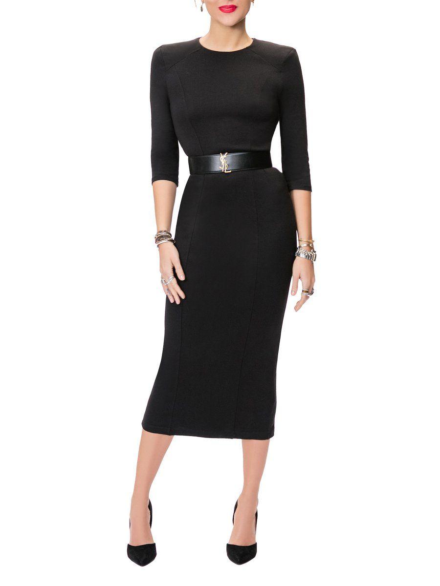 Claire Black Shoulder Pad Dress Shoulder Pad Dress Dresses La Fashion District [ 1200 x 900 Pixel ]