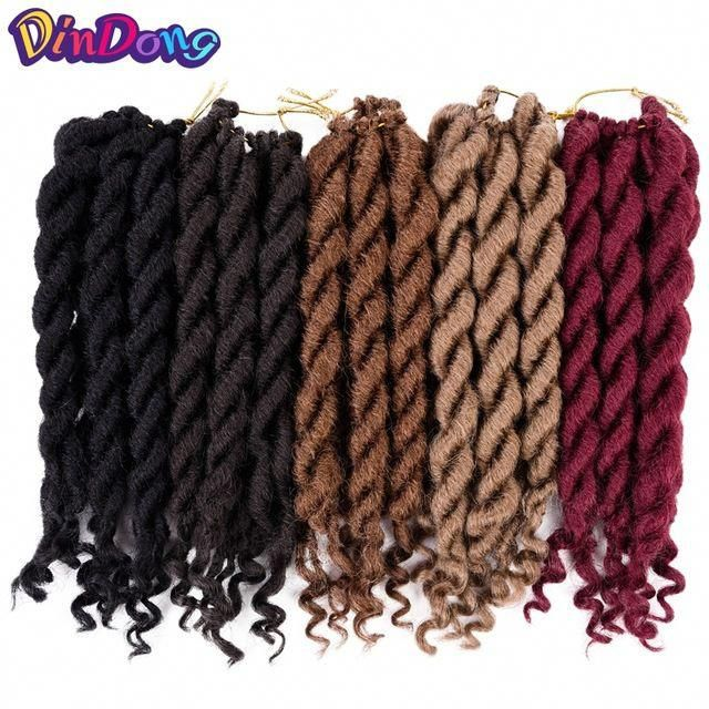 DinDong 12roots Faux Locs Dreadlocks Crochet Braid Hair Extensions Senegalese Twist Kanekalon Synthetic Braiding Hair Box Braids Review #senegalesetwist #crochetsenegalesetwist