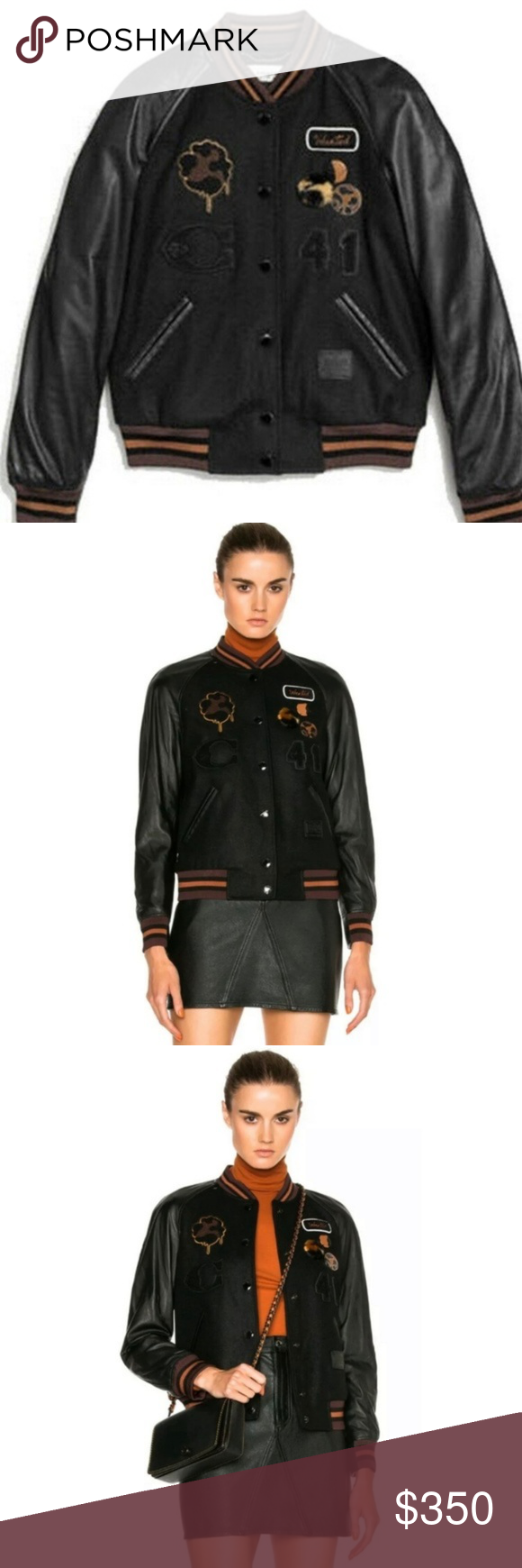 Coach Classic Varsity Jacket Wool / Leather 0 in 2020