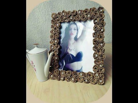 diy cmo hacer marcos para fotos o espejo picture frame or mirror