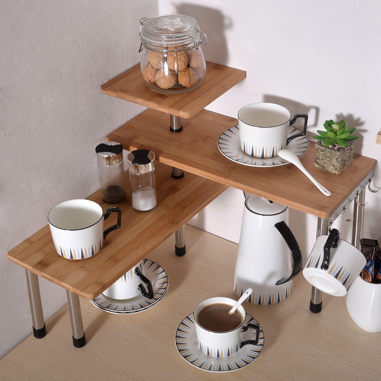 Bamboo 3 Tier Kitchen Corner Shelf Desktop Rack Unit Stainless Steel Kitchen Office Desk Organiser Bookshelf Display Shelves Walmart Com In 2020 Kitchen Storage Ikea Kitchen Shelves Corner Shelving Unit