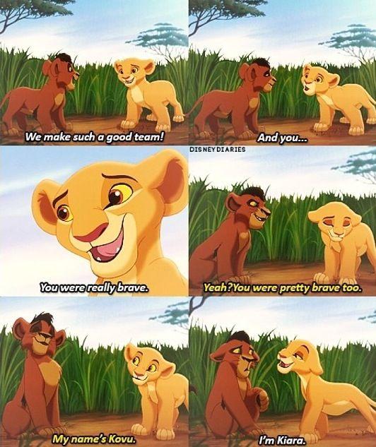 lion king 2 kovu and kiara quotes
