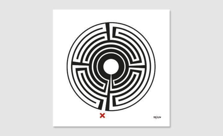 Mark Wallinger's 'Labyrinth' artworks for the London Underground