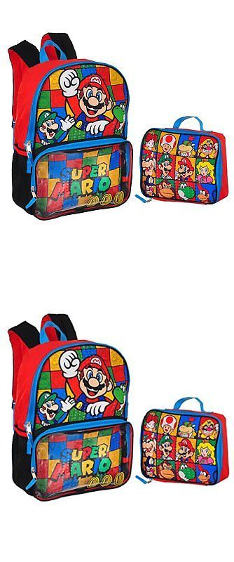 a578a07b25 Backpacks and Bags 57882  Super Mario Backpack W Lunch Box ... -  BUY IT  NOW ONLY   42.67 on eBay!
