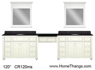 Sagehill Designs 120 Double Bathroom Vanity With Make Up Station From Cottage R Traditional Bathroom Vanity Best Bathroom Vanities Bathroom With Makeup Vanity