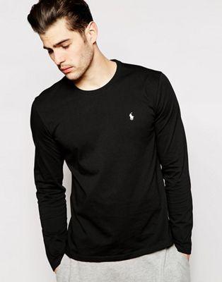 404dfe15d4099 Polo Ralph Lauren Black Long Sleeve Top Regular Fit