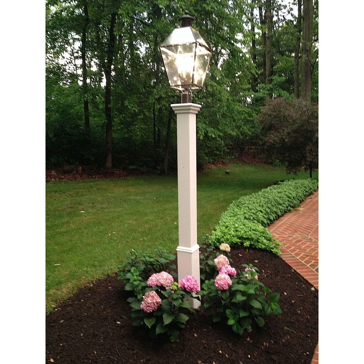 6 W X 72 H Madison Lamp Post Lamp Not Included White 99 99 Garden Lamp Post Outdoor Lamp Posts Light Post Landscaping
