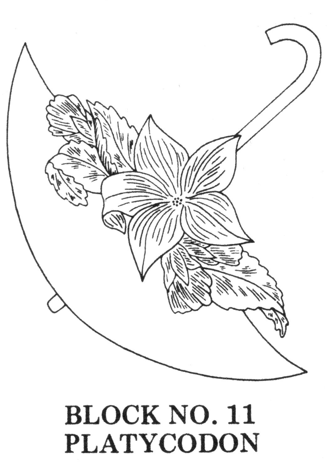 Umbrella Bouquets Applique/Embroidered Quilt Pattern ...