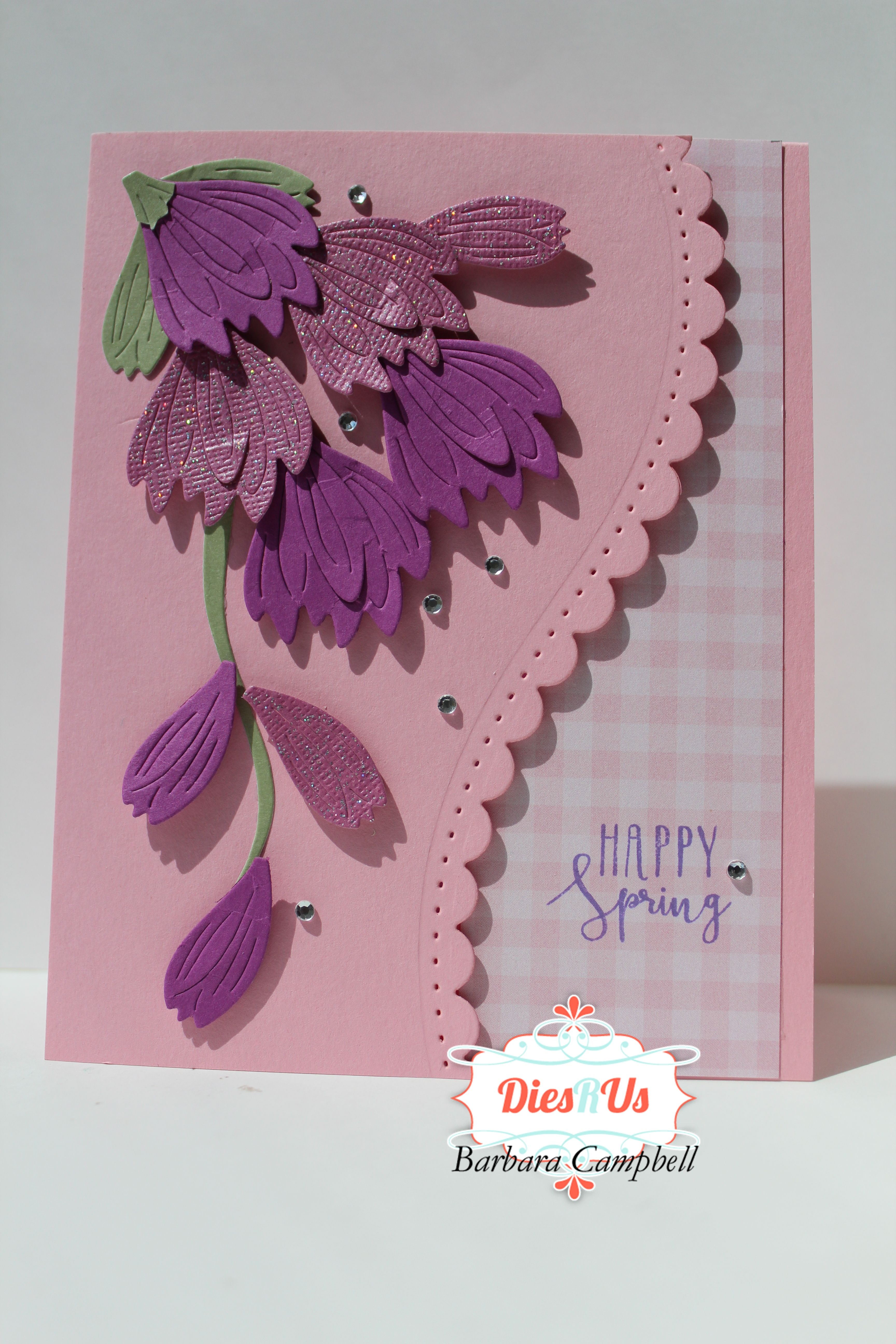 This card, made with dies, reminds me of Spring.