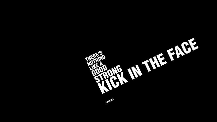 Kick in the face hd wallpaper