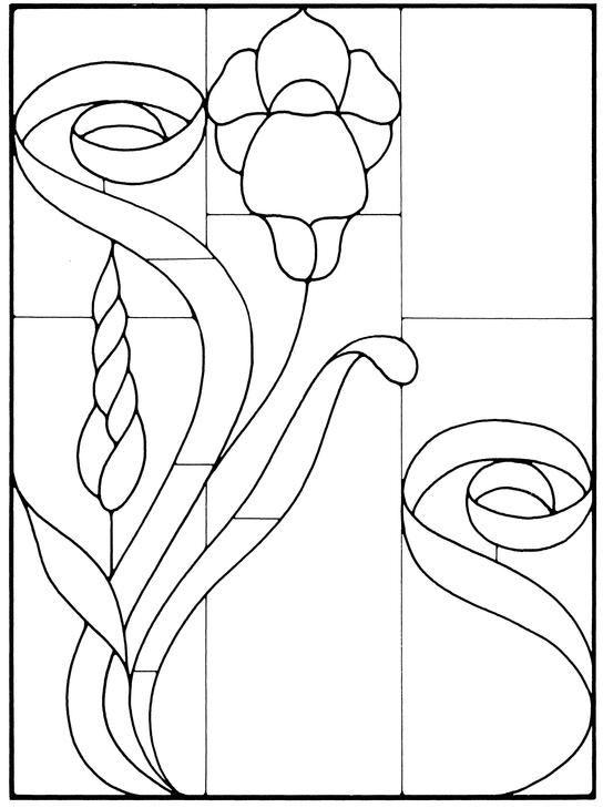 Art Nouveau Stained Glass Pattern Book | Vidrieras dibujos ...