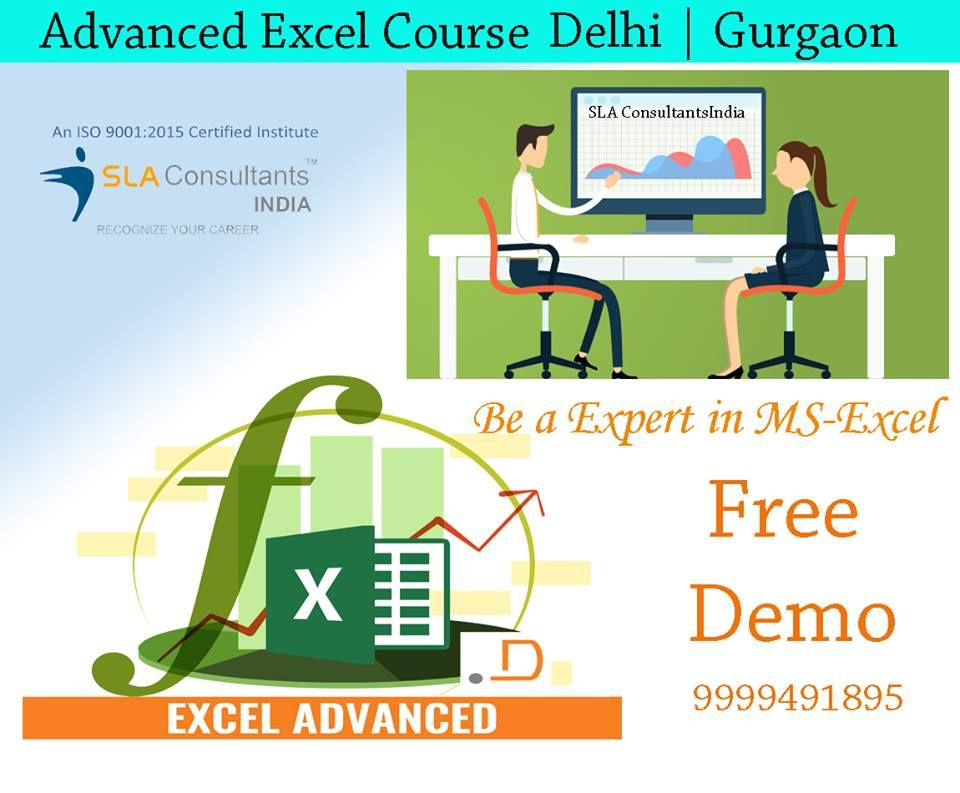 Pin by SLA Consultants Gurgaon on Advanced Excel Course