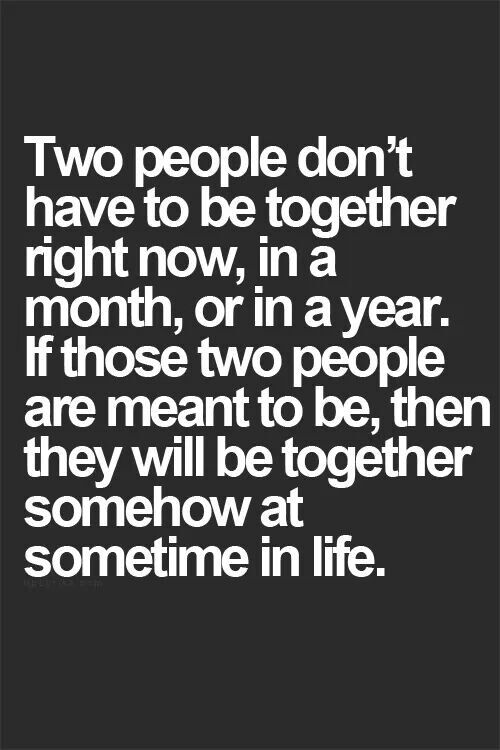 If two people are meant to be...