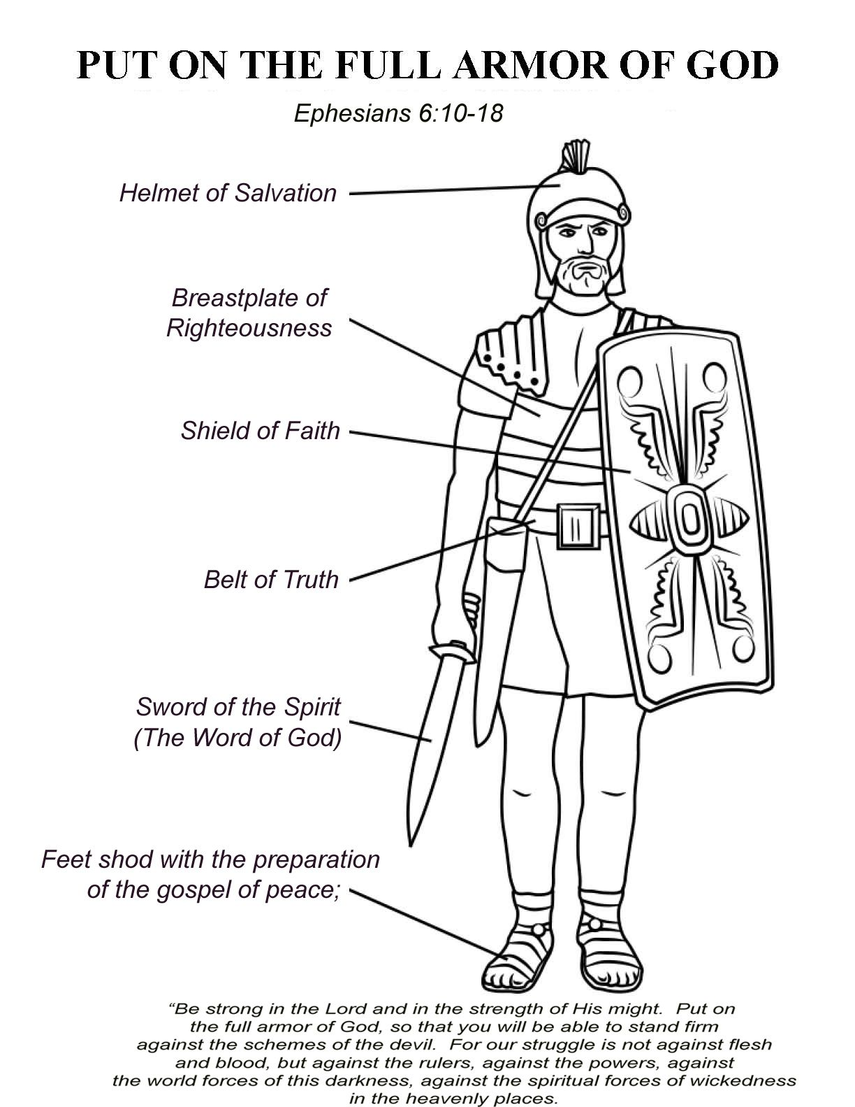 Ephesians 6 10 17 The Armor Of God Great Theme For A Series Of