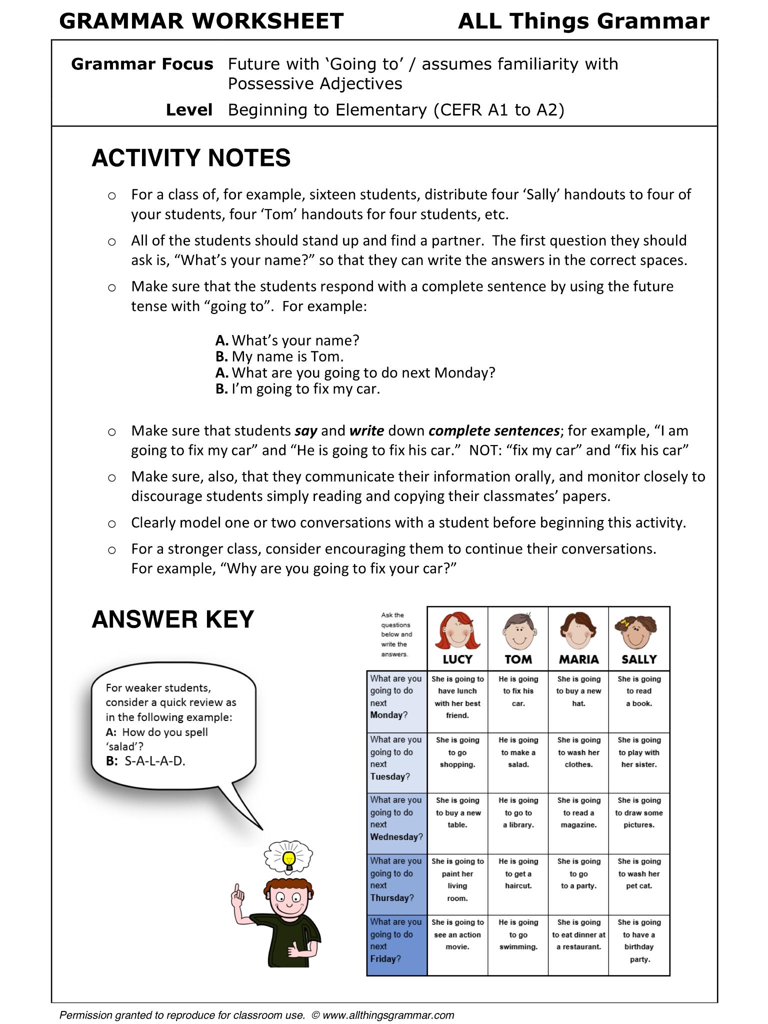 English GRAMMAR WORKSHEET, Info-Gap, Grammar Focus Future with ...
