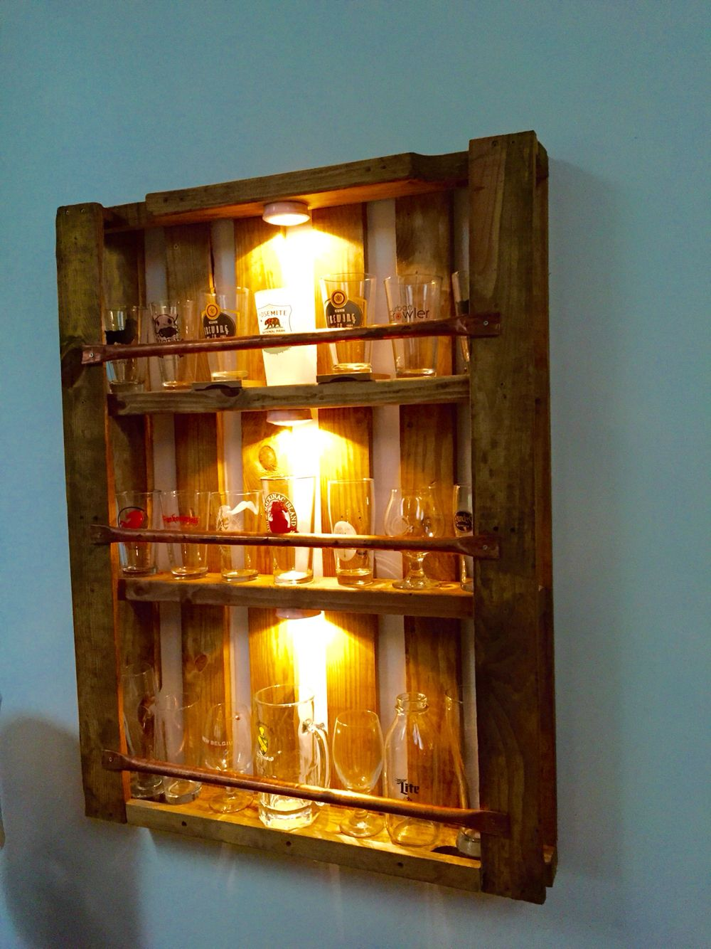 Pallet Pint Glass Display Case Finished Projects