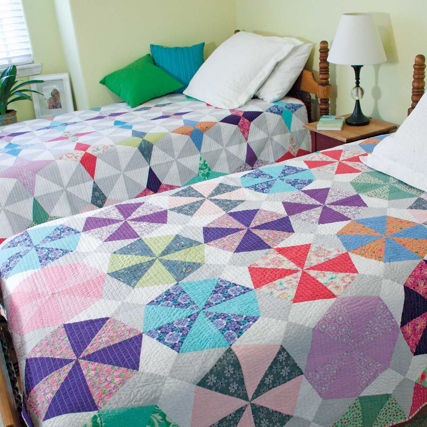 SPARKLE & SPIN Double the Fun Twin Quilt Patterns