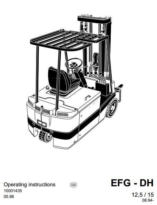 JUNGHEINRICH JETI Electric Fork Truck EFG-DH Series: 12.5