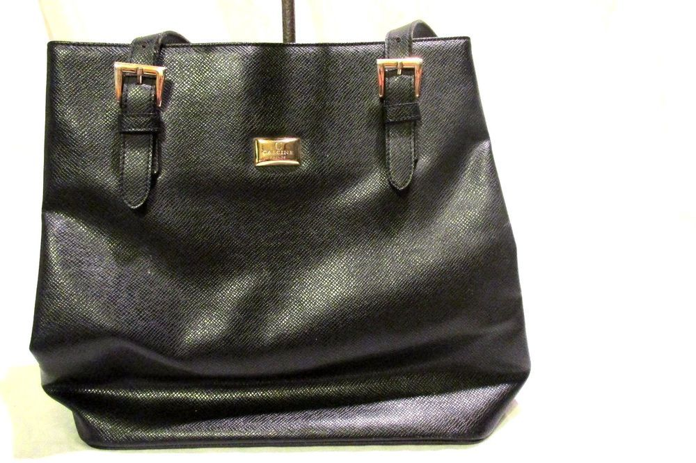 f21f4cd97e1c0 Vintage Cascine Firenze Shoulder Purse Black Leather #CascineFirenze  #ShoulderBag