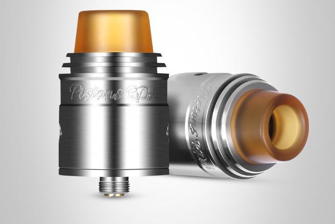 Piston RDA Atomizer - Dual RDA atomizer, easy to make coils