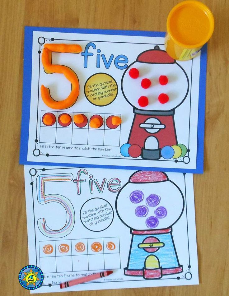 Play Dough - Number Counting Mats 1 - 10 {GUMBALL MATH} | Math ...