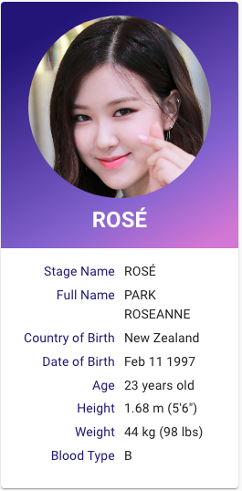 Blackpink Rose Kpop Profile Blackpink Rose Blackpink Kpop Profiles