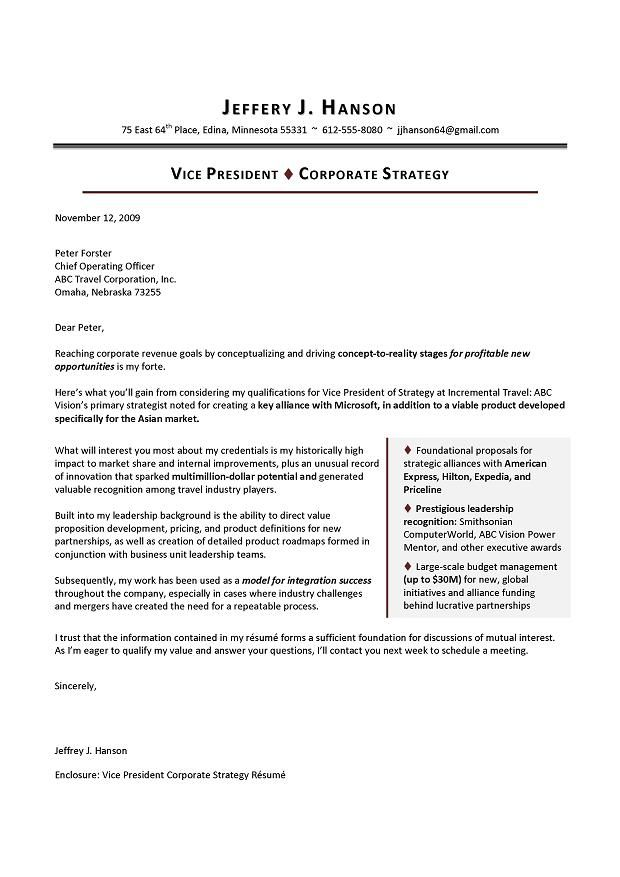 cover letters for executive resumes examples - Google Search - resume for executives