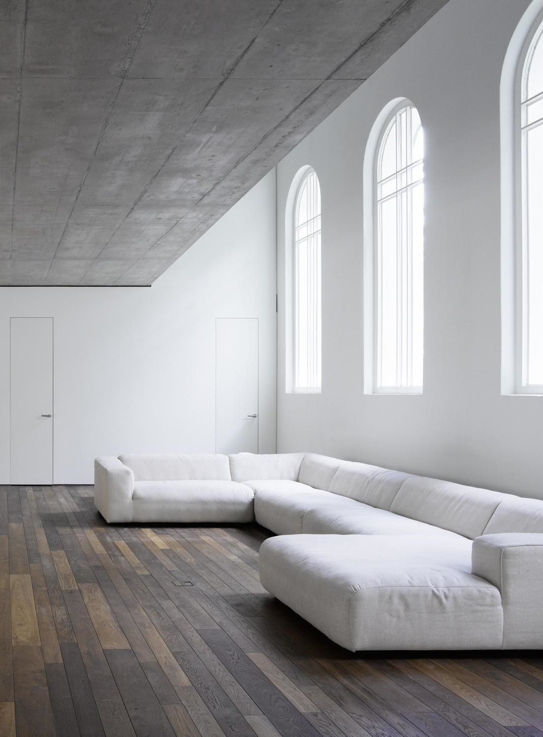 White Sofa Design Ideas & Pictures For Living Room | Arch windows ...