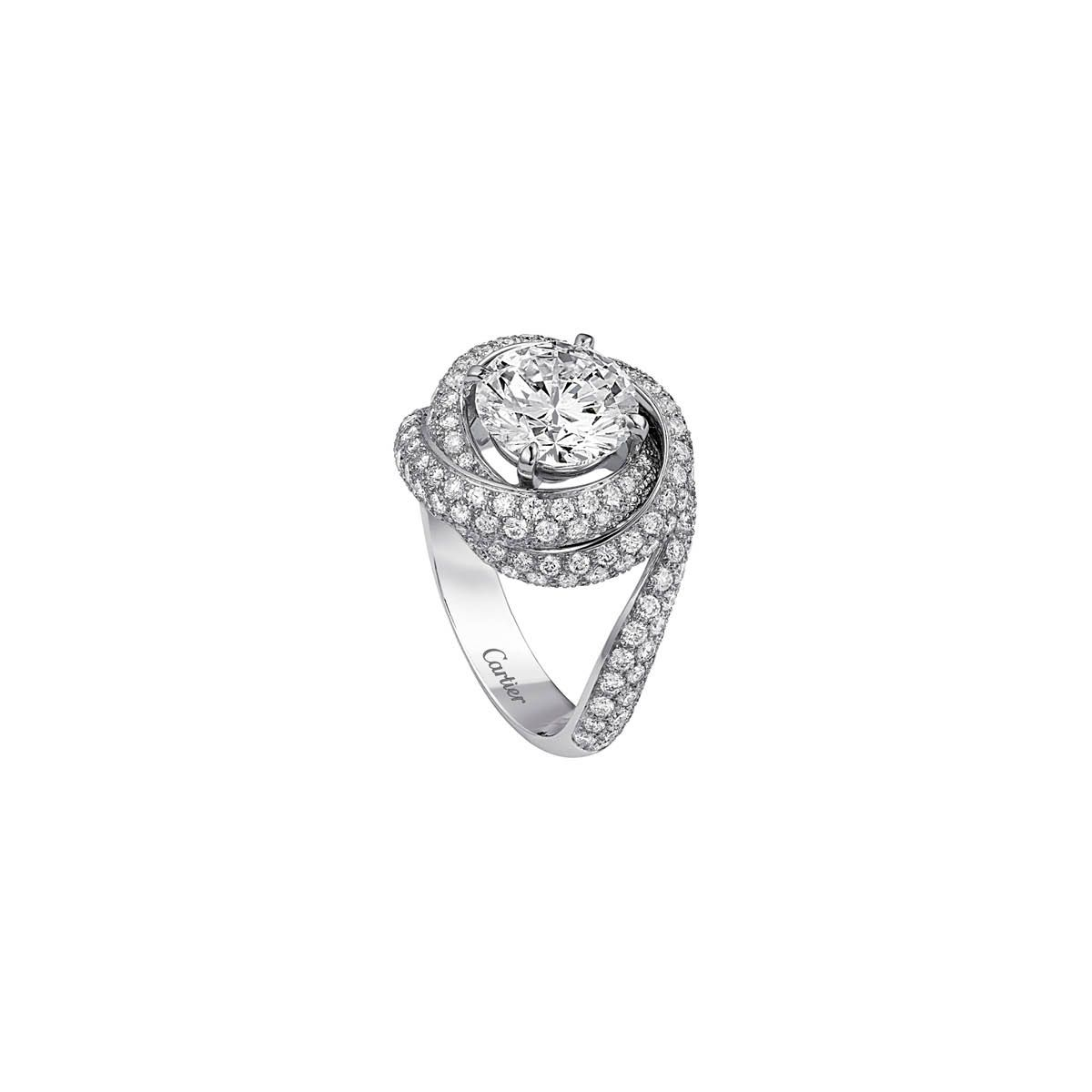 068a76bd80be1 Cartier Trinity Ruban solitaire ring, price upon requestFor ...