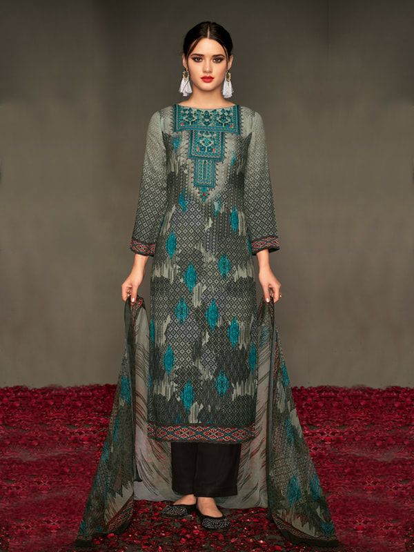 a2a52935e34 Buy the finest winter wear pashmina salwar kameez collection from Inddus at  the best shopping price