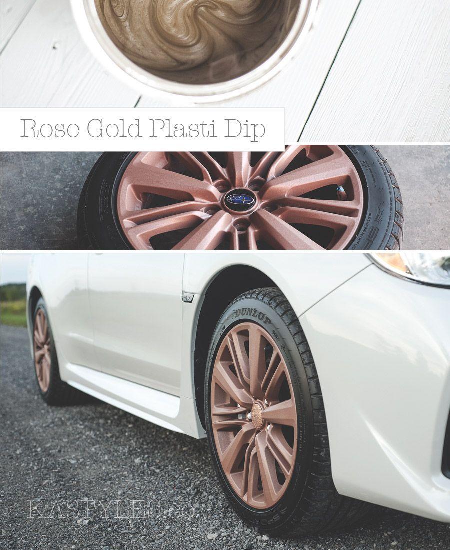 Diy Paint Your Rims Rose Gold Plasti Dip Peelable Rubber Spray