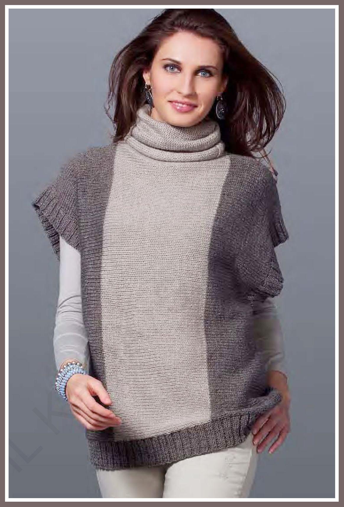Patrón de jersey de mujer de lana | Labores de punto | Pinterest ...