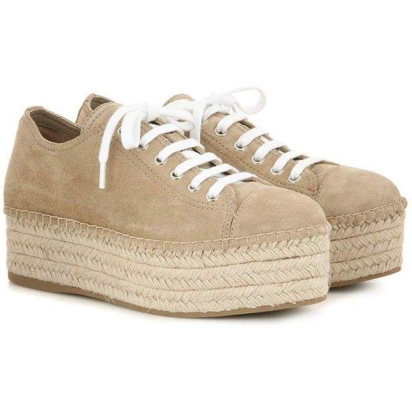 Suede espadrille-style platform sneakers Miu Miu 1jtQ6mA
