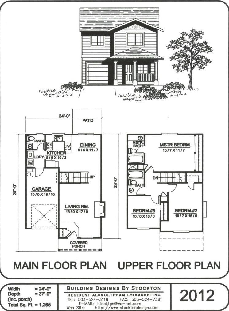 Building Designs By Stockton Plan 2012 House Plans 2 Storey House Design Dog House Plans
