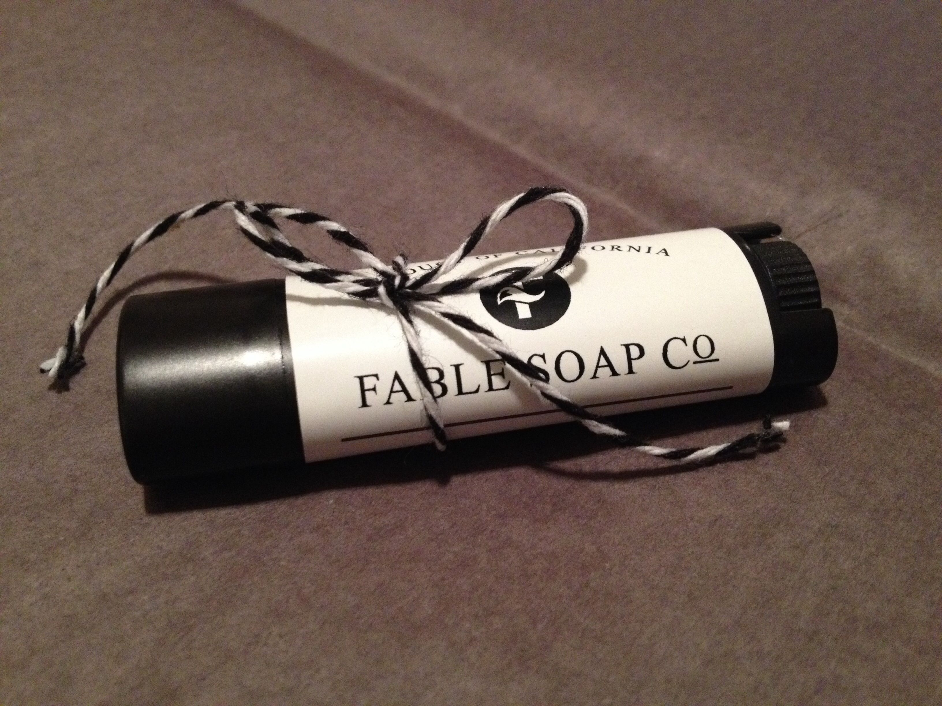 Fable soap company organic lip balm on etsy Www.fablesoapco.etsy.com