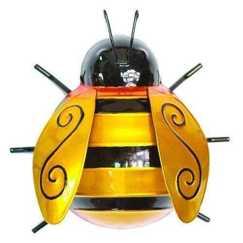 Bumble Bee Garden Decor Outdoor Ornament Metal Hanger Large 13cm