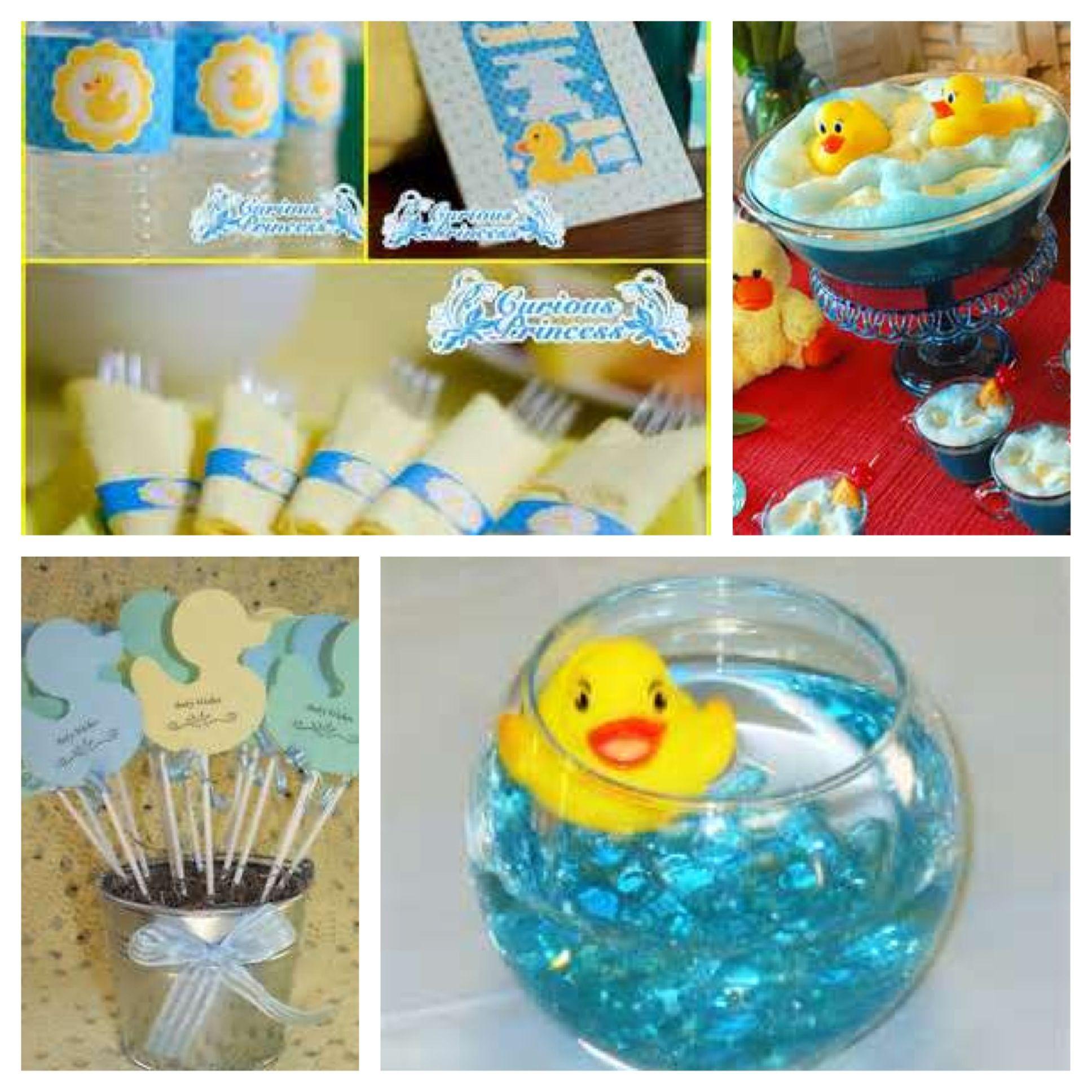 Duck theme baby shower #timelesstreasure | Baby shower ...