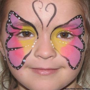 Butterfly Face Paint Easy For Kids