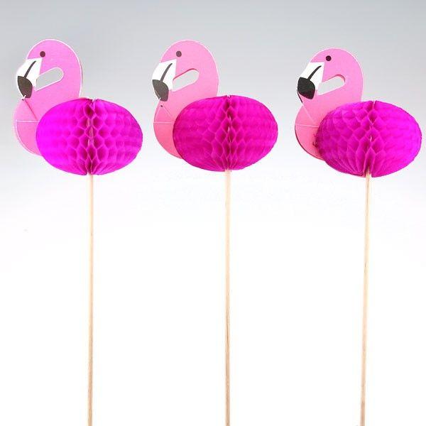 Fsc Honeycomb Paper Craft Pink Flamingo Decorations For