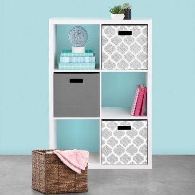 Fabric Cube Storage Bin Gray 13 Threshold In 2020 Cube